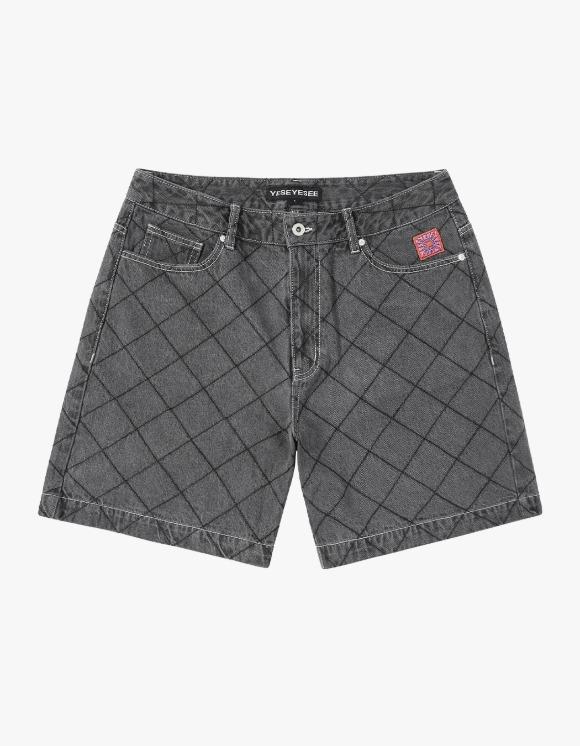 yeseyesee Net Denim Shorts - Black | HEIGHTS. | International Store