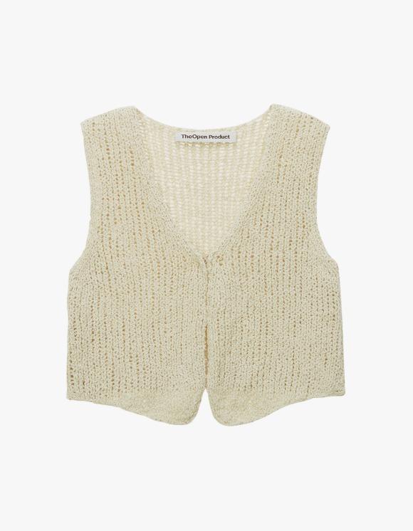 TheOpen Product V-neck Knit Vest - Beige | HEIGHTS. | International Store