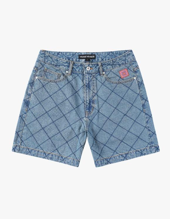 yeseyesee Net Denim Shorts - Blue   HEIGHTS.   하이츠 온라인 스토어