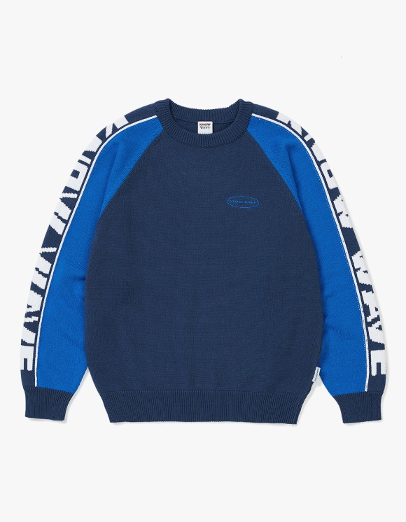 Know Wave Racing Intarsia Sweater - Navy | HEIGHTS. | International Store