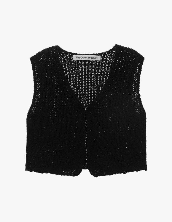 TheOpen Product V-neck Knit Vest - Black | HEIGHTS. | International Store