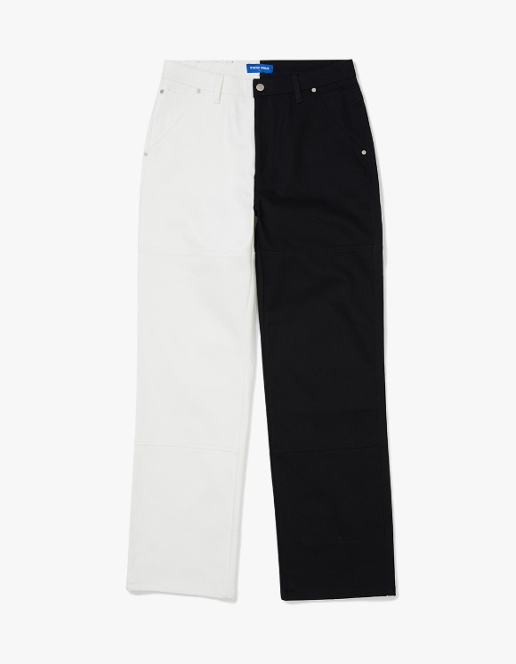 Know Wave Half N Half Cotton Pants - Black/White | HEIGHTS. | 하이츠 온라인 스토어