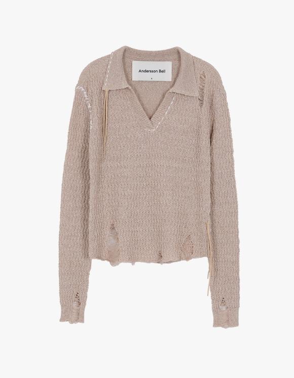 Andersson Bell Erica Damage Linen Knit Shirts - Beige | HEIGHTS. | 하이츠 온라인 스토어