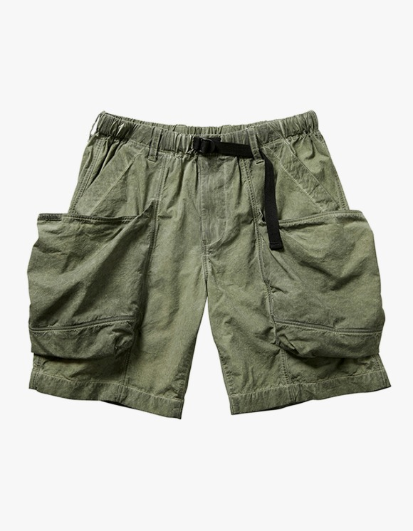 Liberaiders Overdyed Utility Shorts - Olive | HEIGHTS. | International Store