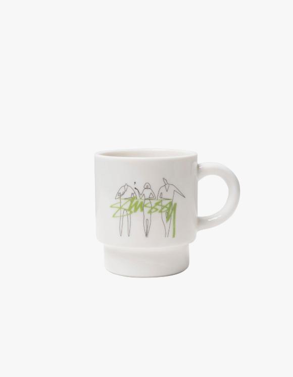 Stussy 3 People Stacking Mug - White | HEIGHTS. | International Store