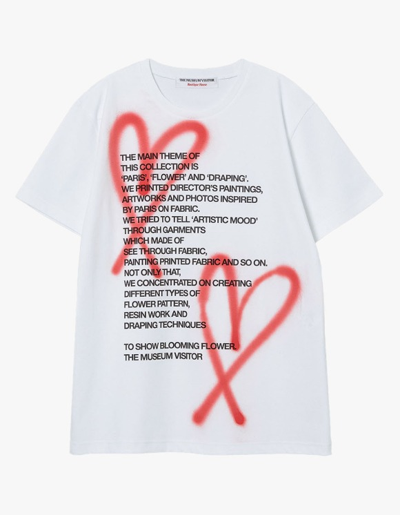 The Museum Visitor Heart Sprayed S/S Tee - White | HEIGHTS. | International Store