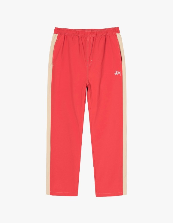 Stussy Panel Track Relaxed Pant - Red | HEIGHTS. | 하이츠 온라인 스토어