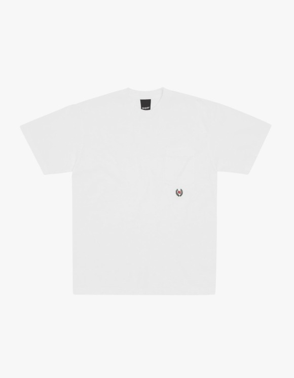 Only NY Ny Crest Pocket S/S Tee - White | HEIGHTS. | International Store