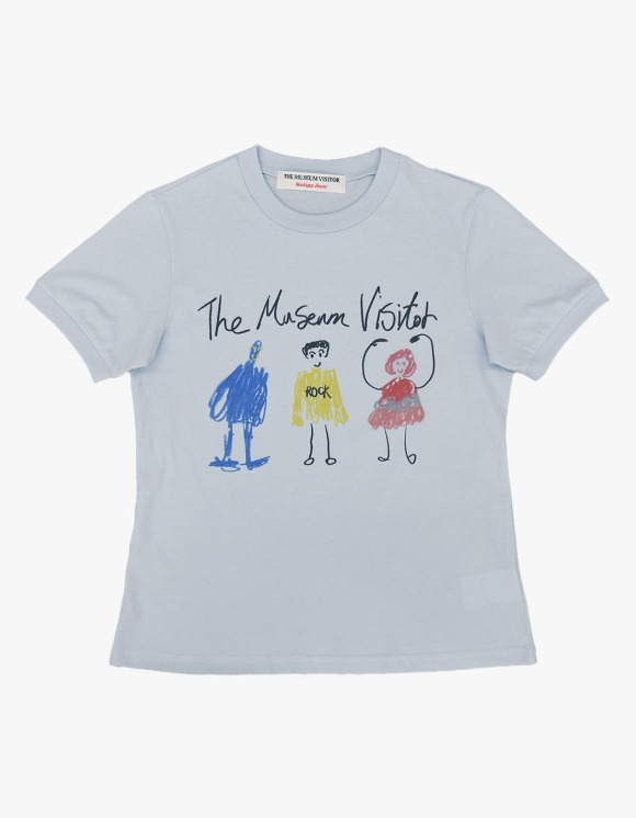The Museum Visitor Children Printed S/S Tee - Sky Blue | HEIGHTS. | International Store