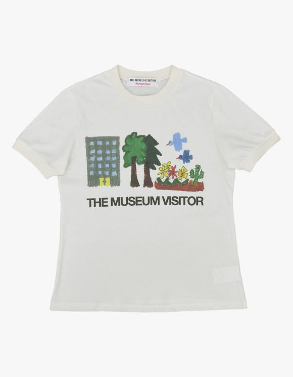 The Museum Visitor Home Nature Printed S/S Tee - Ivory | HEIGHTS. | 하이츠 온라인 스토어