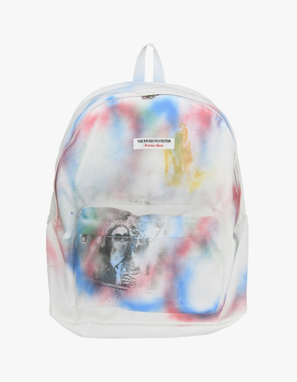 The Museum Visitor 2021 Sprayed Backpack - White | HEIGHTS. | International Store