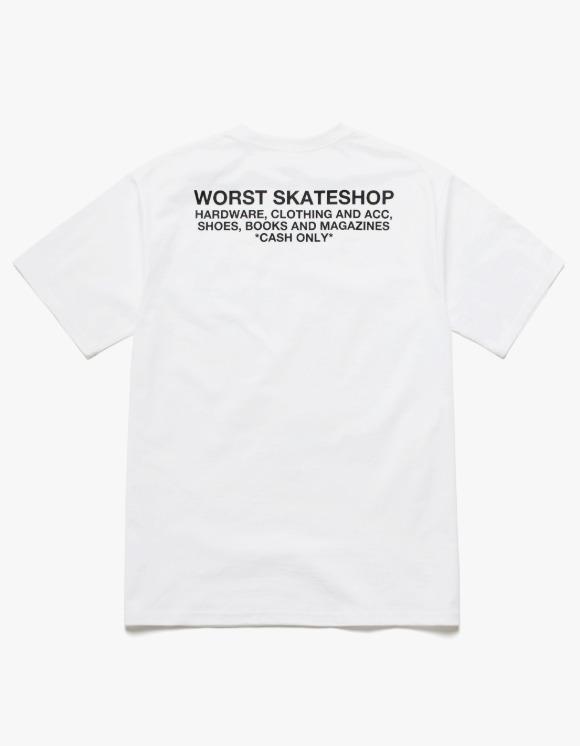 WORST SKATESHOP Flea Market S/S Tee - White | HEIGHTS. | 하이츠 온라인 스토어