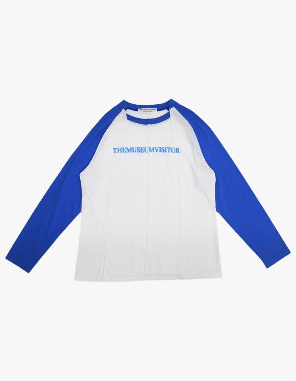 The Museum Visitor Raglan Split Sleeve - Blue | HEIGHTS. | 하이츠 온라인 스토어