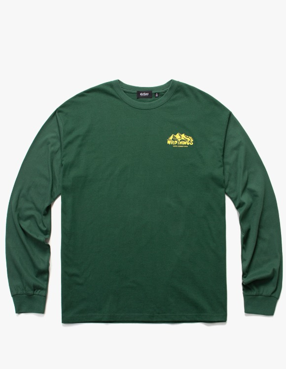 Wild Things Mountain Logo L/S Tee - Forest Green | HEIGHTS. | International Store
