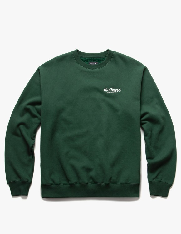 Wild Things Side Logo Crewneck - Forest Green | HEIGHTS. | International Store