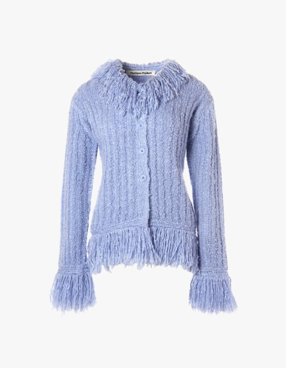 TheOpen Product Fringe Detail Cardigan - Sky Blue | HEIGHTS. | International Store