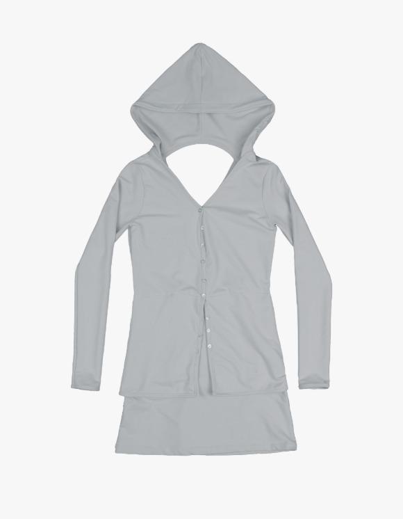 Ojos [09월 27일 예약발송] Reversible Hoodie Dress - Light Grey   HEIGHTS.   하이츠 온라인 스토어