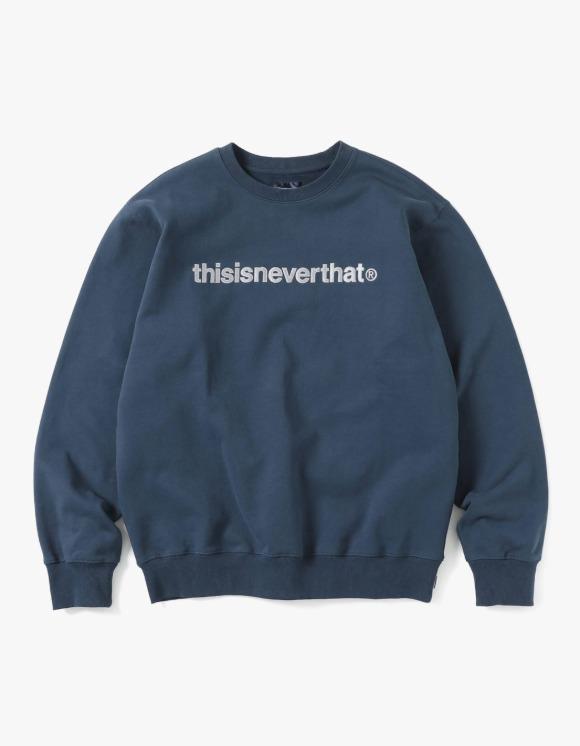 thisisneverthat T-Logo Crewneck - Navy | HEIGHTS. | International Store
