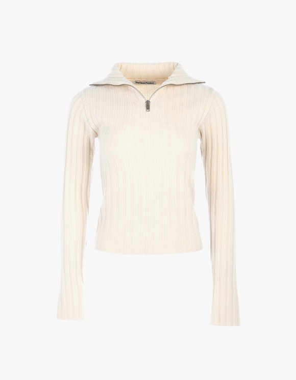 TheOpen Product Half Zip Turtle Neck Knit Top - Ivory | HEIGHTS. | 하이츠 온라인 스토어