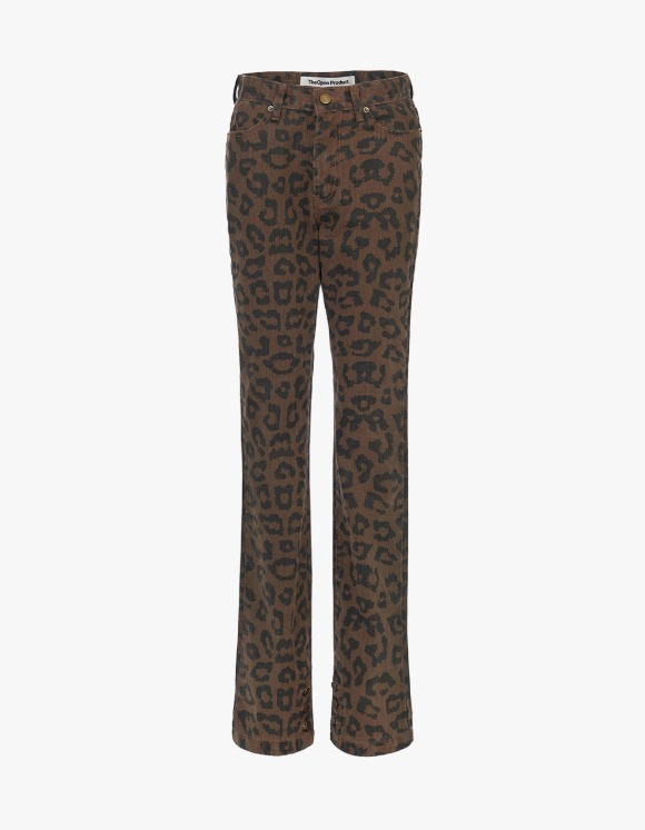 TheOpen Product Leopard Side Button Skinny Jeans - Brown | HEIGHTS. | 하이츠 온라인 스토어