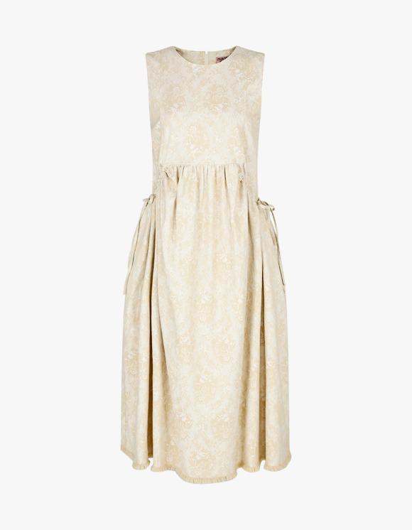 Margarin Fingers Grace Jacquard Dress - Beige | HEIGHTS. | 하이츠 온라인 스토어