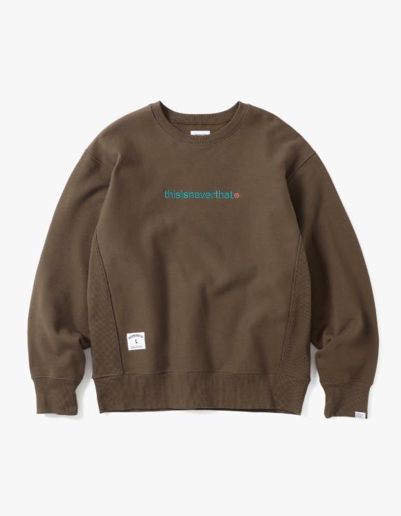 thisisneverthat SPORT T-Logo Crewneck - Olive | HEIGHTS. | International Store