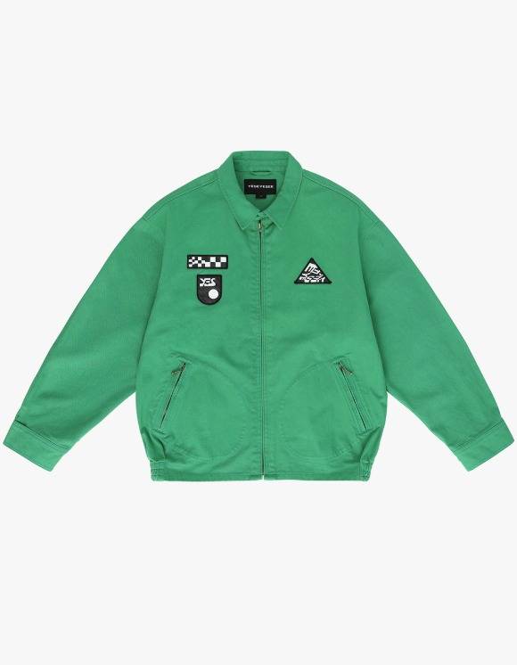 yeseyesee Patched Zip Jacket - Green | HEIGHTS. | International Store