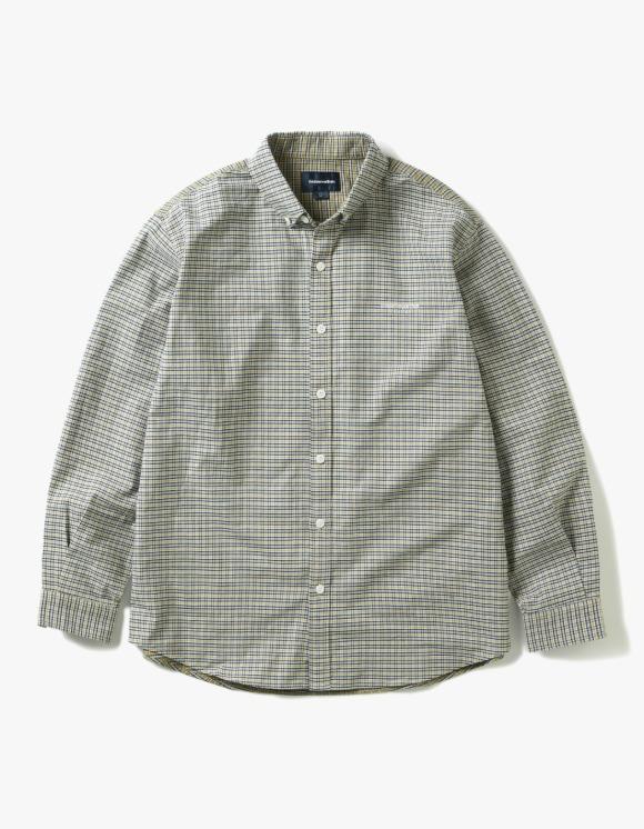 thisisneverthat Mixed Check Shirt - Yellow | HEIGHTS. | 하이츠 온라인 스토어
