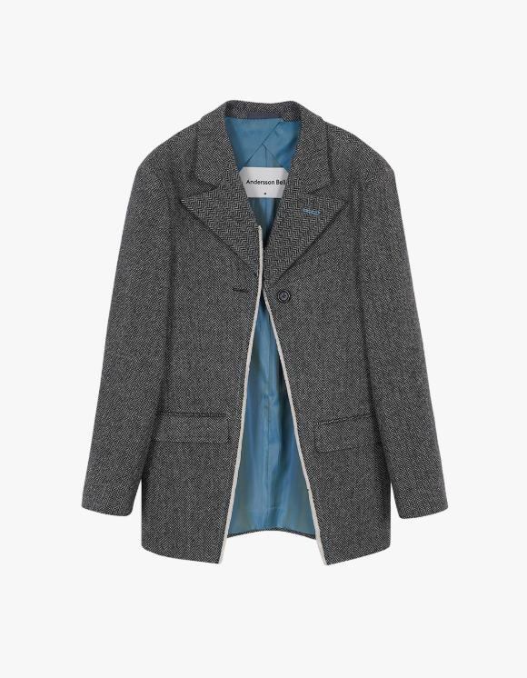Andersson Bell [12월 4일 예약발송]Novah Raw Cut Jacket - Herringbone | HEIGHTS. | 하이츠 온라인 스토어