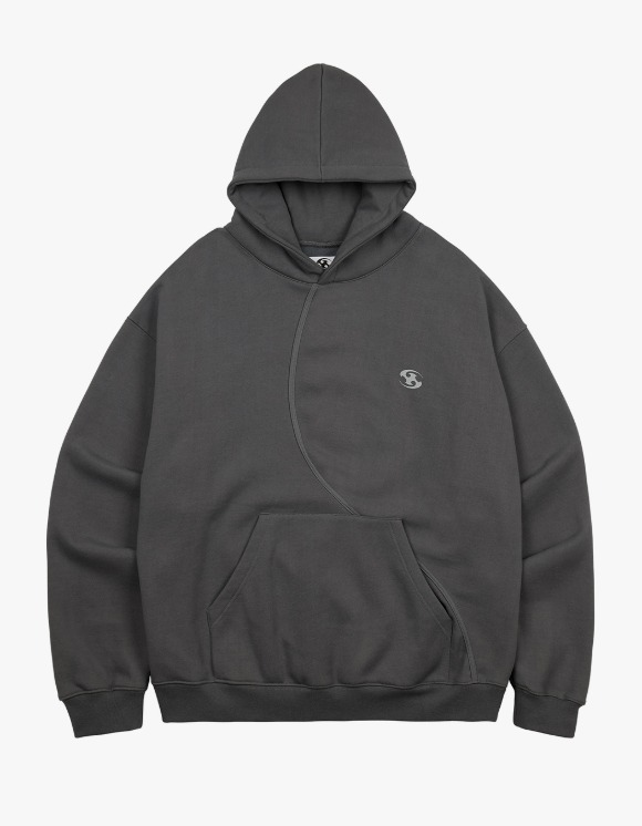 San San [9월 24일 발송 예정] 21FW Over Sized Hoodie - Charcoal | HEIGHTS. | International Store