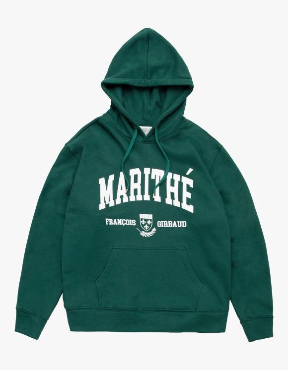 Marithe Francois Girbaud MARITHE COLLEGE HOODIE dark green | HEIGHTS. | 하이츠 온라인 스토어