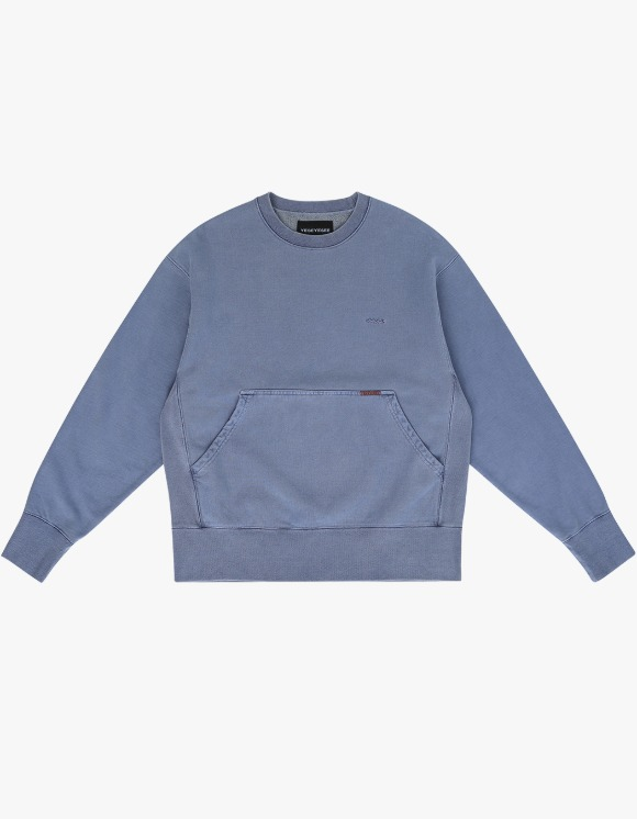 yeseyesee Y.E.S Pig Dyed Sweatshirts - Navy | HEIGHTS. | International Store