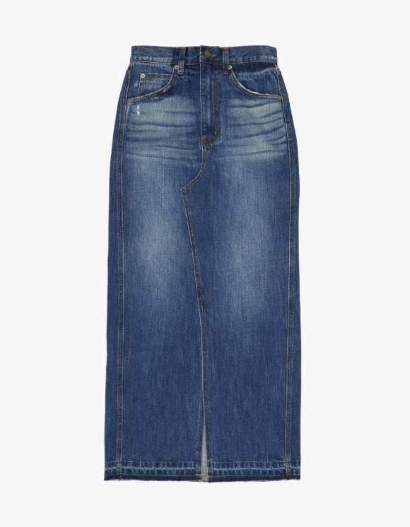 TheOpen Product Washed Denim Maxi Skirt - Blue | HEIGHTS. | International Store