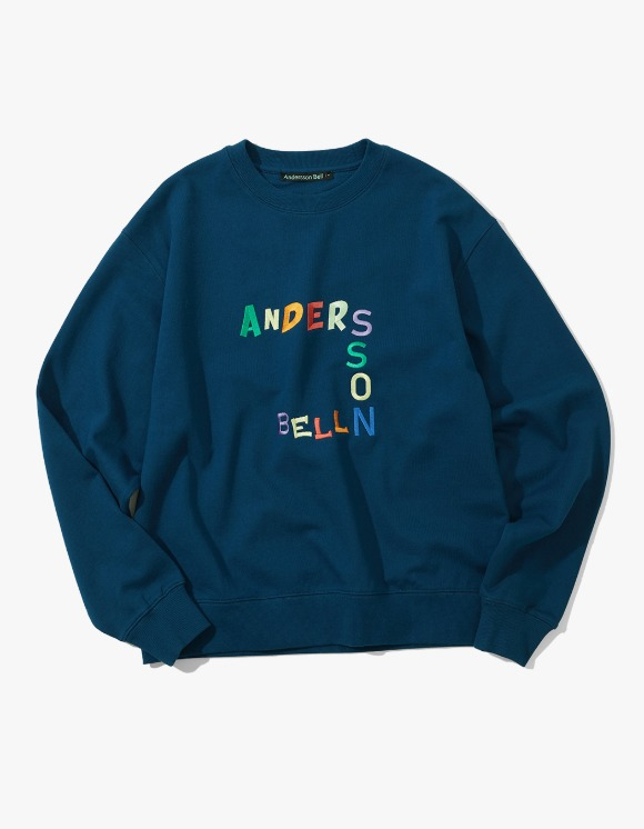 Andersson Bell Andersson Bell Embroidery Sweatshirt - Midnight Blue | HEIGHTS. | 하이츠 온라인 스토어