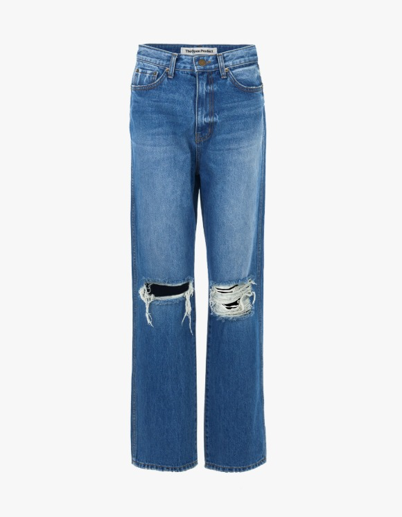 TheOpen Product Distressed Straight Jeans - Blue | HEIGHTS. | International Store