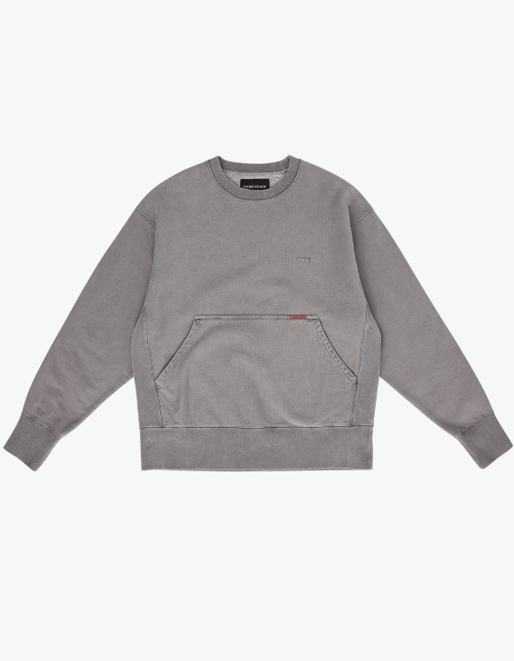yeseyesee Y.E.S Pig Dyed Sweatshirts - Charcoal | HEIGHTS. | International Store