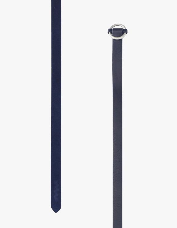 yeseyesee Leather Split Long Belt - Navy | HEIGHTS. | International Store