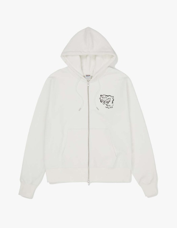 Know Wave Butterfly Zip Hoodie - White   HEIGHTS.   하이츠 온라인 스토어