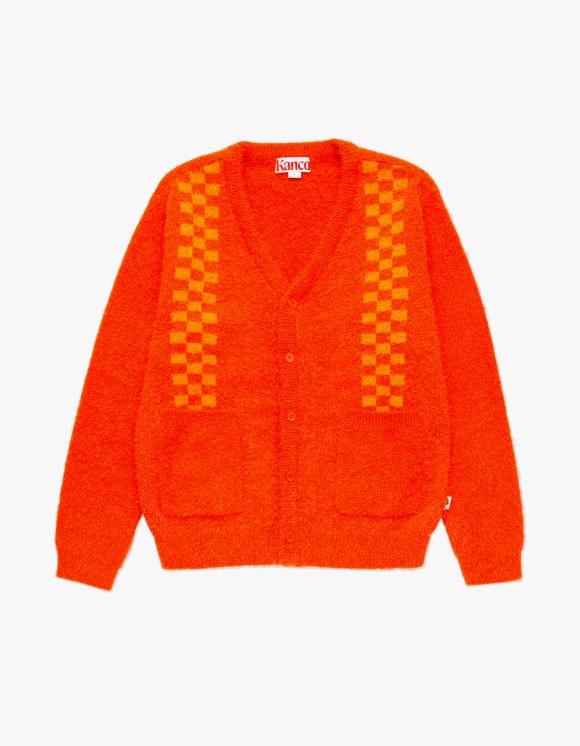 KANCO KANCO CHECK CARDIGAN dark orange | HEIGHTS. | 하이츠 온라인 스토어
