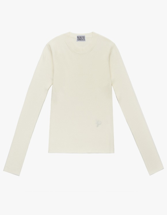 Marithe Francois Girbaud MARITHE W ROUND KNIT off white   HEIGHTS.   하이츠 온라인 스토어