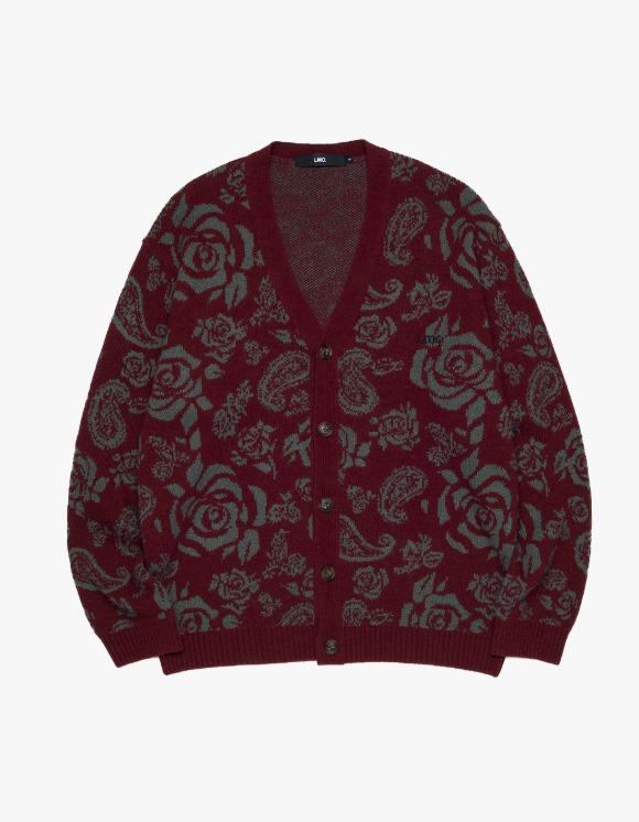 LMC LMC ROSE PAISLEY KNIT CARDIGAN burgundy | HEIGHTS. | 하이츠 온라인 스토어