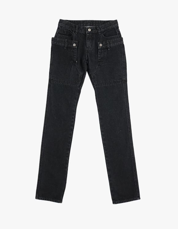 Ojos Double-Waist Denim Trousers - Black | HEIGHTS. | 하이츠 온라인 스토어
