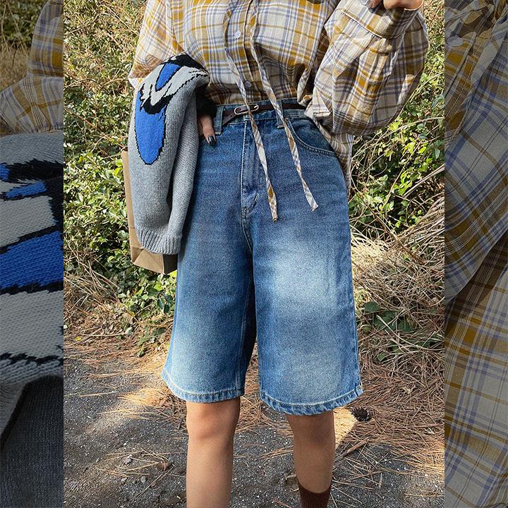 슬릿하프데님-shorts