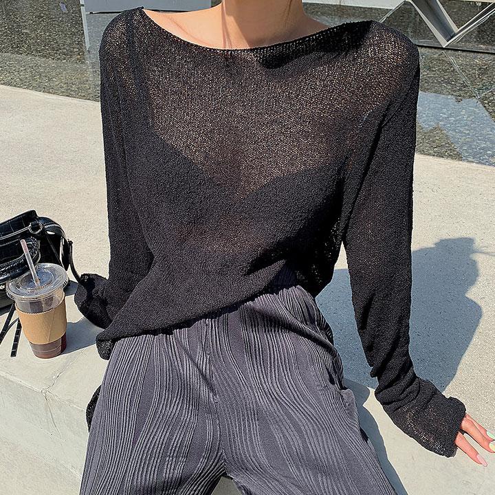 내추럴시스루니트-knit