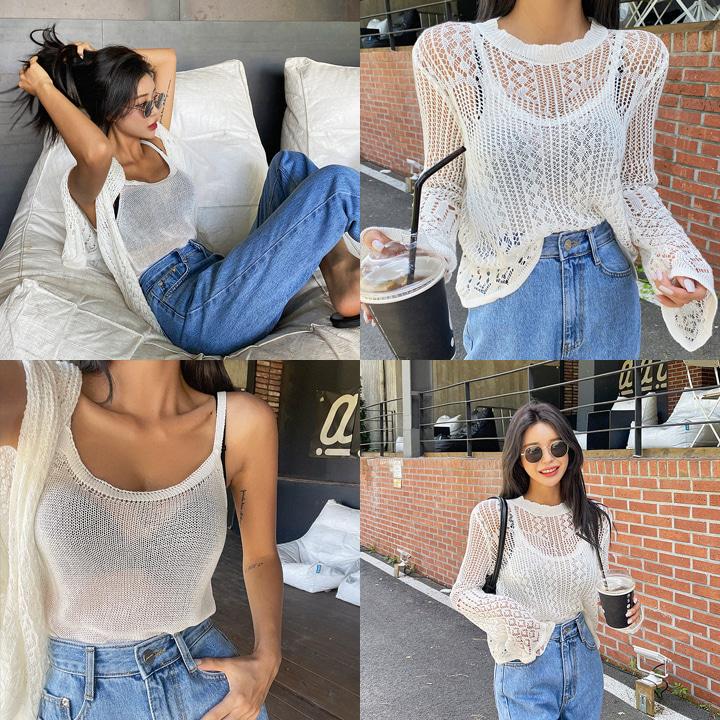 썸머펀칭니트나시세트-knit
