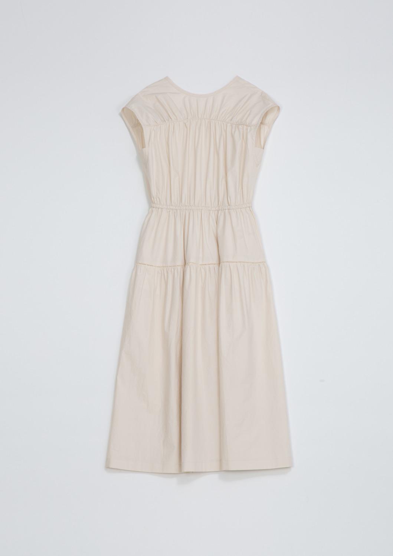 De Cut-out Dress -  Ivory Cotton