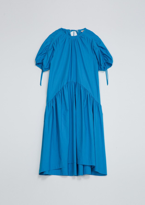 Belle Lucing Dress - Aqua Blue Cotton