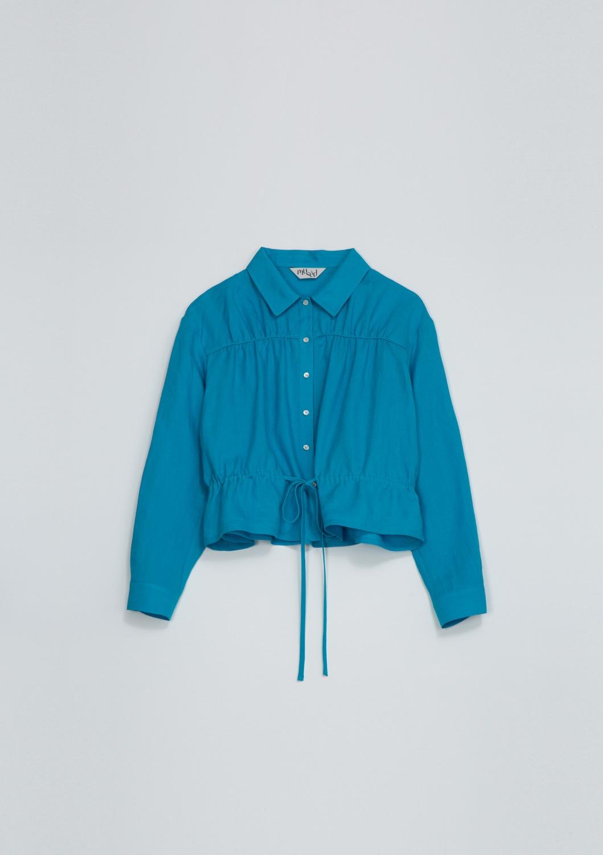Bien Shirt Jacket -  Aqua Blue Linen