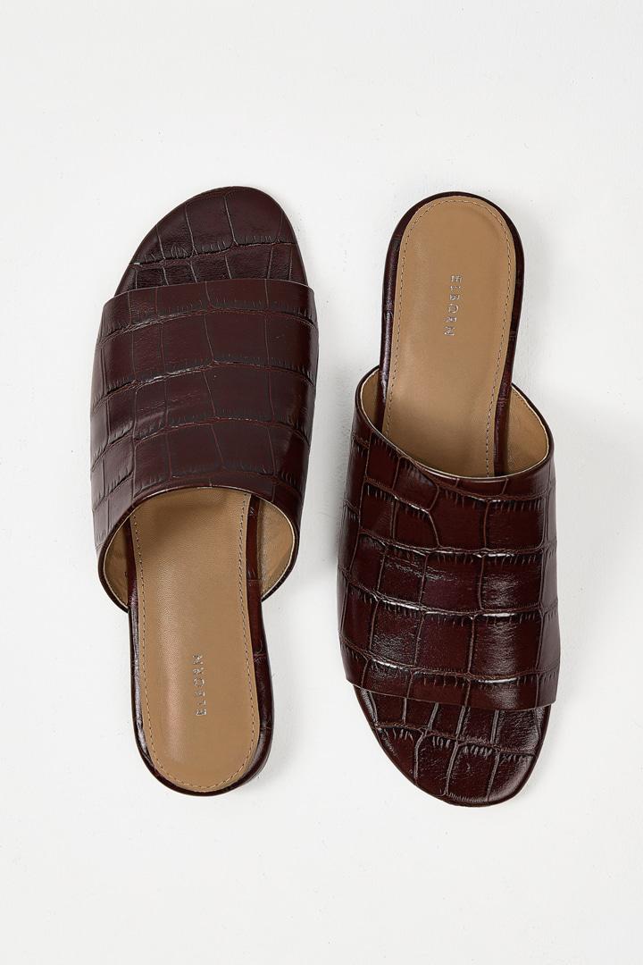 Leather Slides - Brown
