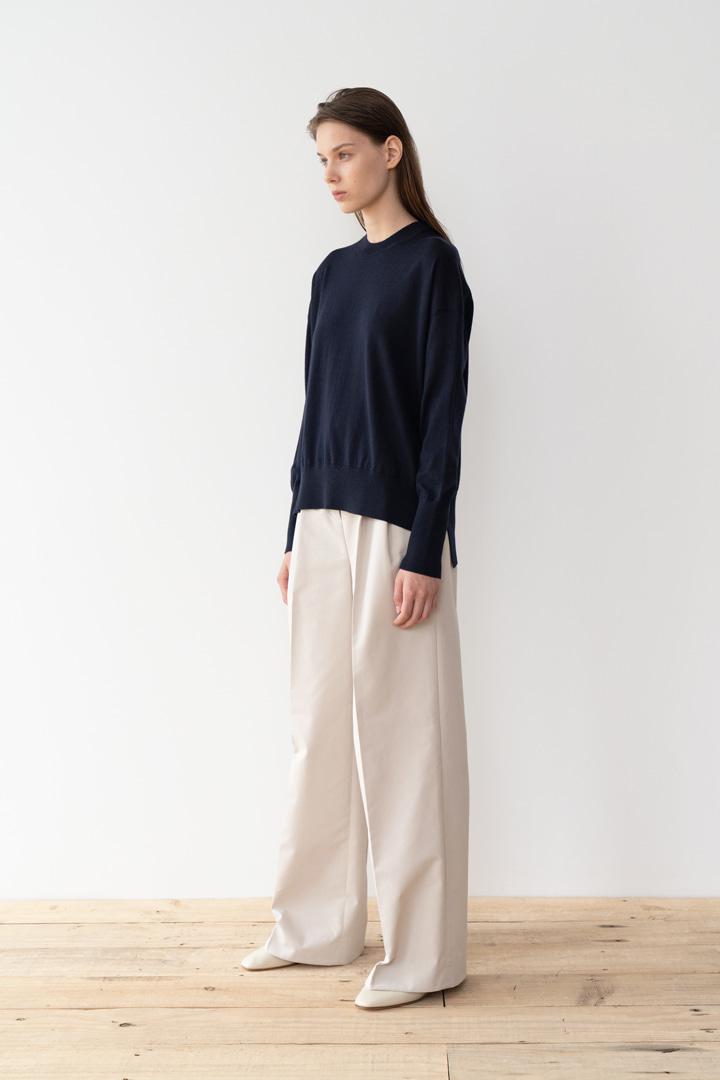 Numero 047: Pleated Cotton Wide Pants (2 colors)